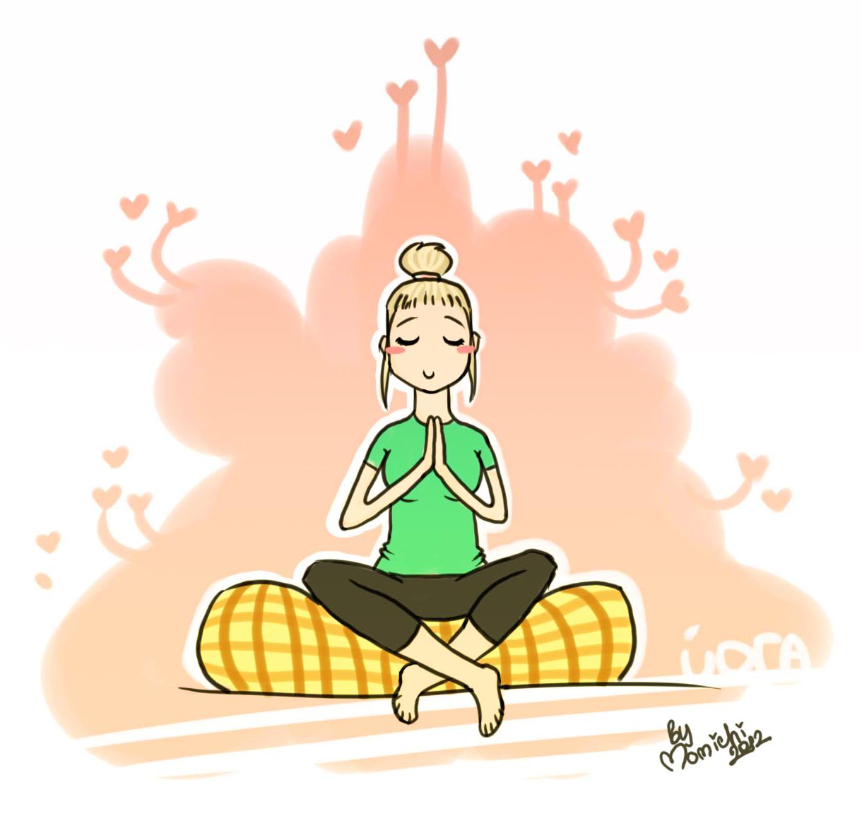 Смешные йога рисунки